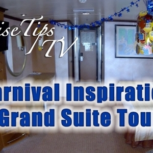 Cruise Tips TV Carnival Inspiration Grand Suite Tour U79 - YouTube