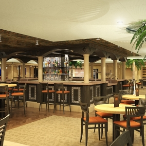 Carnival Sunshine Havana Bar Rendering