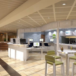 Carnival Sunshine Coffee Bar and Fun Hub Rendering